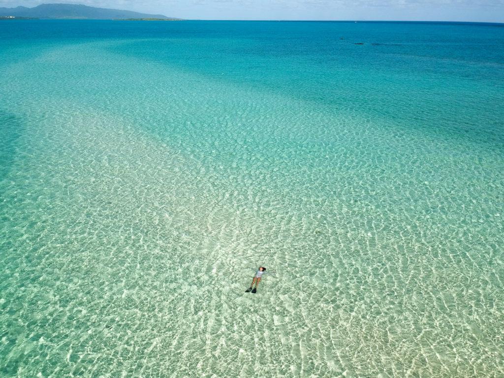 幻の島では満潮時でも絶景です!